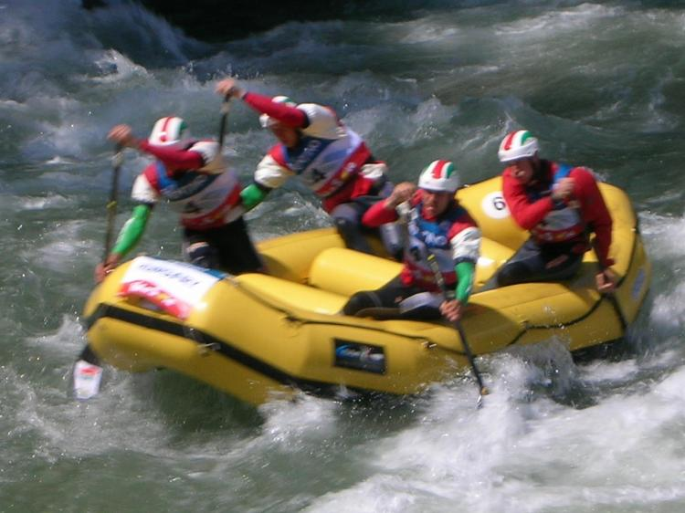 Rafting su torrente Noce