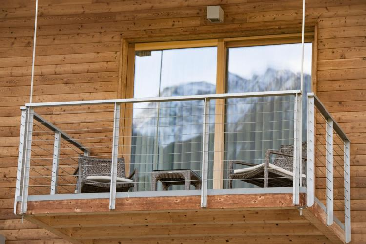 Agritur Anselmi, balcone vista montagna