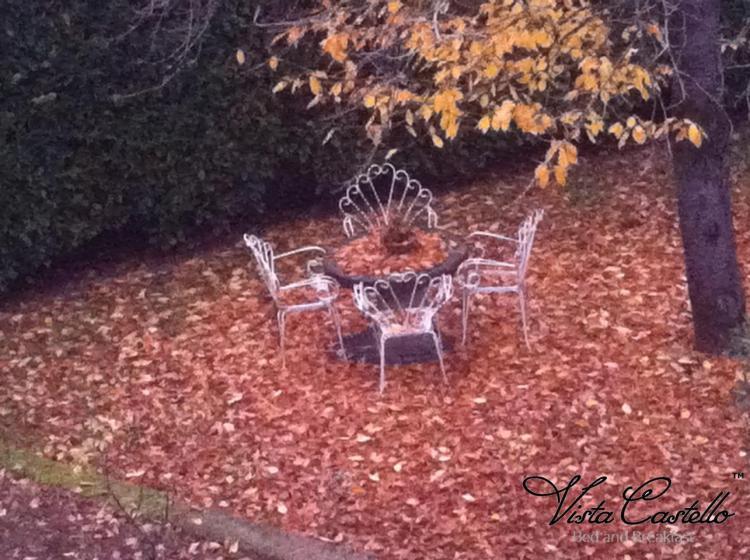 Giardino in autunno - B&B Vista Castello