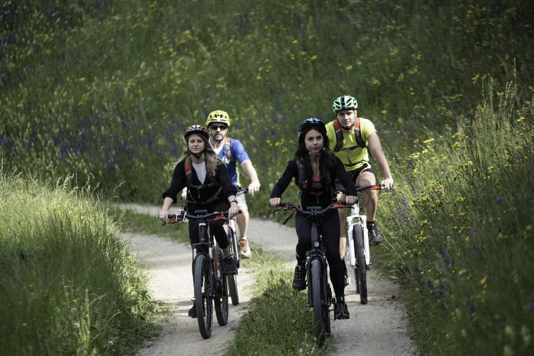 in bici sul lez