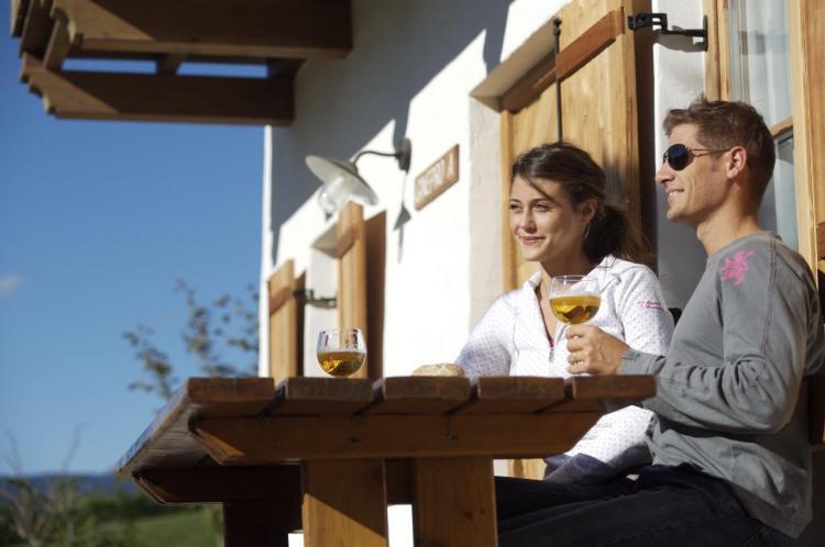 aperitivo in giardio_chalet alpino