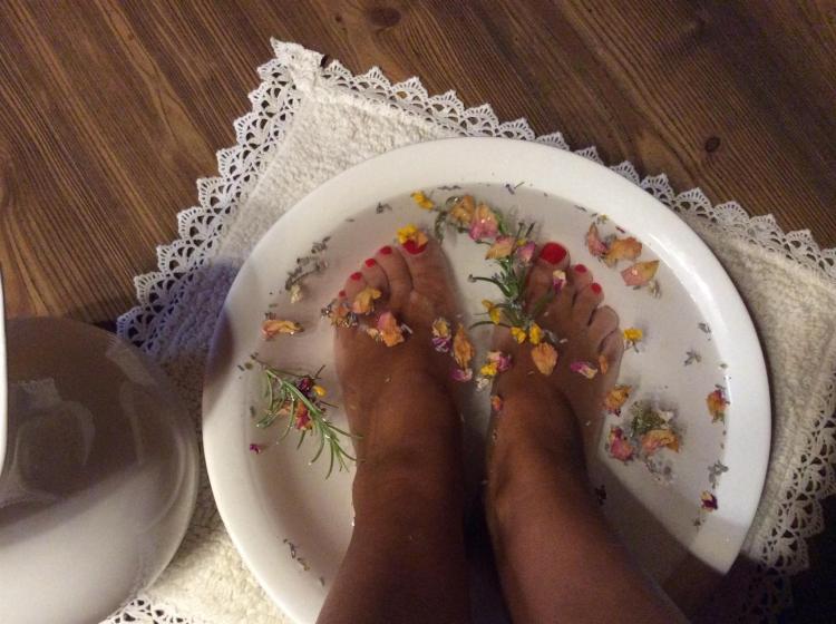 Per rilassare i vostri piedi affaticati