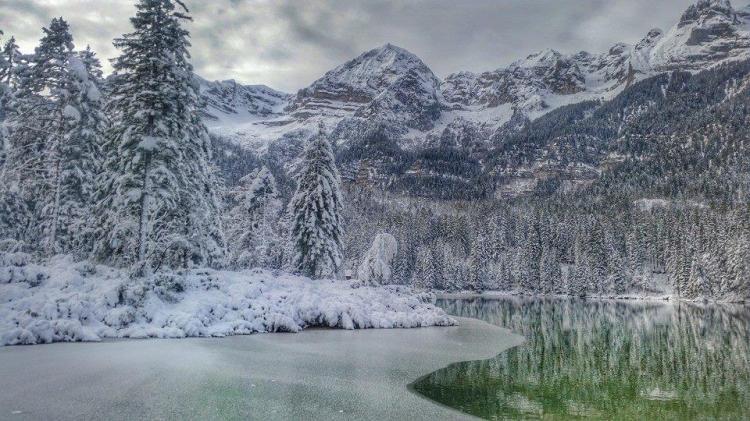 Lago di tovel - inverno