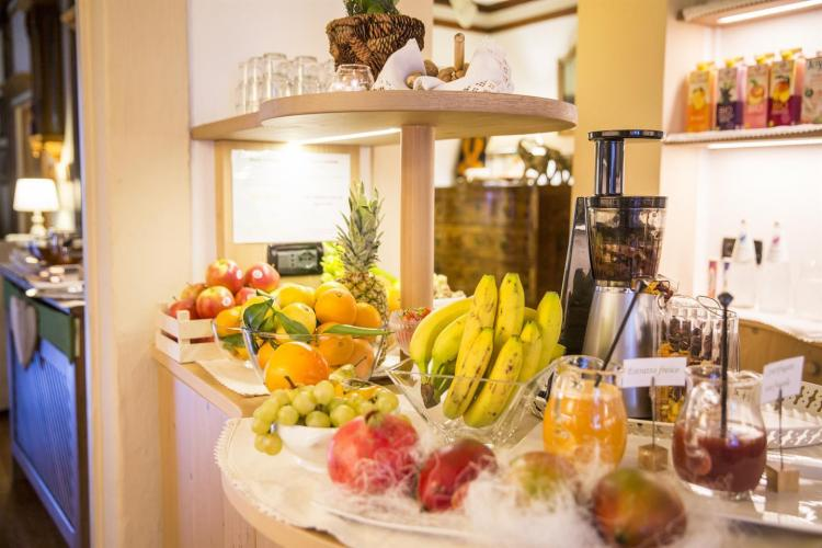 Frutta fresca e centrifughe all'hotel Garnì Laurin